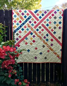 Pattern is Modern Trellis by Must Love Quilts, fabric is Hello Love by Heather Bailey for Free Spirit Fabrics.