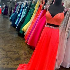 Want to be about that #neon life? #GoBold for #Prom2k16 tons of color options are at #bridalelegance BridalElegance.us.com Bridal Elegance, Prom 2016, Mac Duggal, Neon, Elegant, Formal Dresses, Life, Color, Tops