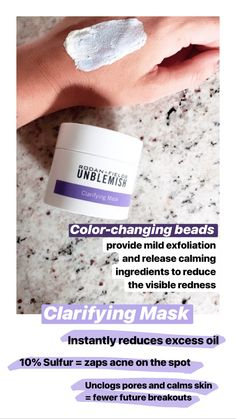 Our UNBLEMISH Clarifying Mask reduces excess oil, unclogs pores and removes impurities from the surface of the skin in just 10 minutes. It then calms skin, resulting in fewer blemishes and clearer skin over time. Oily Skin Care, Skin Care Regimen, Skin Care Tips, Rodan Fields Skin Care, My Rodan And Fields, Unblemish Rodan And Fields, Rodan And Fields Consultant, Independent Consultant, Unclog Pores
