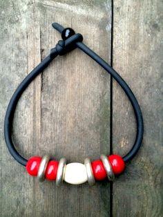 Plexiglass and poliuretane necklace. Handmade in Italy  www.quiproquo.bigcartel.com