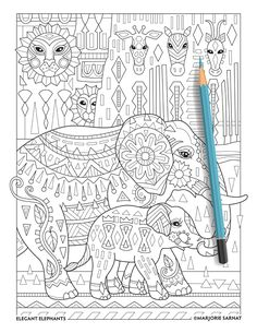 From The Adorable To Awe Inspiring Thirty Four Illustrations Of Elephants Make Up Elegant