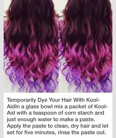 ❤️Temporary Dye Your Hair With Kool-Aide❤️