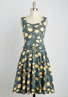 Guest of Honor Dress in Lemon Tree. You'll be flooded with invitations when exhibiting this finely tailored frock by California-based brand Effie's Heart! #green #modcloth