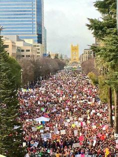 Sacramento, CA. Capitol Mall looking west toward the Tower Bridge. State Capitol building is directly East Victor Hugo, And Justice For All, Protest Signs, Who Runs The World, Faith In Humanity Restored, Capitol Building, Pictures Of People, Happy Birthday Cards, Smart People
