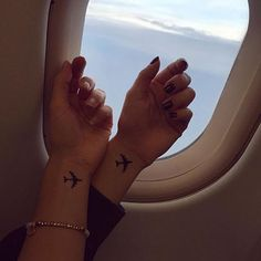Pin for Later: 16 Travel Tattoos For Best Friends With Wanderlust Planes