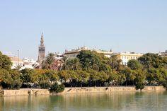 Vistas del río y de la Giralda desde Triana Sevilla
