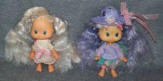 2x Emily Erdbeer Puppe Figur Strawberry Shortcake 80er 90er Jahre Vintage Doll