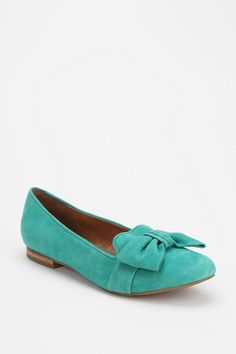 I'm a sucker for turquoise and bows | Dolce Vita Gillian Bow Loafer  #UrbanOutfitters