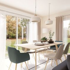 n adore cette salle à manger lumineuse ☀️🤩 ••• #decoration #deco #homestaging #archi #beautiful #sun #cocooning #design #homesdesign