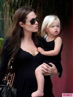 Angelina with Shiloh Jolie-Pitt