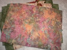 FREE shipping today only June 14 Batik Quilted Placemats Set of Four Reversible by Love2quilt