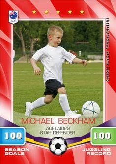 Soccer All Stars Card Personalised Photo Upload CardOnce you've personalised your card or uploaded a photo, and used the handwriting feature on Brochure Layout, Corporate Brochure, Hippie Painting, Financial Logo, Photo Upload, Creative Icon, Website Design Inspiration, Graphic Design Tutorials, Magazine Template