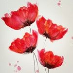 Learning How to Paint Watercolor Poppies, My Way - Part 3 — 9th
