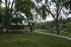 Argo Park, Ann Arbor MI Canoe Livery, Picnic Area, and Pond