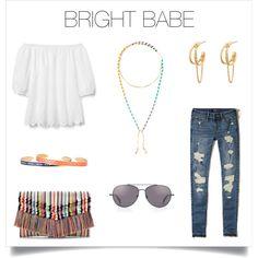 Pops of color over a white off-shoulder top, scream summertime! http://www.stelladot.com/deborahkachhal