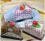 Cake slice washcloths. Cute party gifts