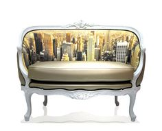 If It's Hip, It's Here (Archives): Teo Jasmin's Digitally Printed Furnishings Combine Artful Images With Classic Styles.
