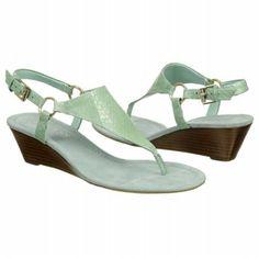 Women's Trend:  Pastels - LAUREN RALPH LAUREN Laurel Sandal - Seafoam Snake shoes.com