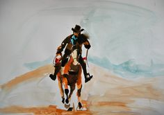 American Cowboys 2014 20 x 30 cm on paper Cowboys, Watercolour, Sci Fi, American, Paper, Art, Pen And Wash, Art Background, Watercolor Painting