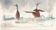 Eis-Laufenten von Melanie Garanin
