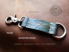 029LIONSTARS Leather Keychain man gift husband by THELIONSTARS