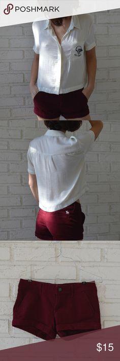 Abercrombie & Fitch Burgundy Shorts Burgundy Abercrombie & Fitch Velvety Shorts                                Size 2/Width 26                                                                                  Like New Abercrombie & Fitch Shorts