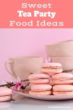 Looking for tea party food ideas and recipes for a ladies, kids or afternoon tea party? Here are great ideas for tea party sandwiches, sweets, scones, savory recipes that will keep all your guests happy. Tea Party Sandwiches, Finger Sandwiches, Party Food Menu, Green Tea Ice Cream, Tea And Crumpets, Green Tea Recipes, Afternoon Tea Parties, Sweet Tea, High Tea