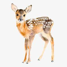 Chocovenyl / Muursticker / Baby Deer