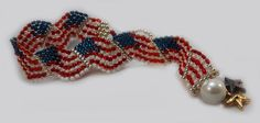 American Flag Bracelet to Support the Troops – Bead Twins   Custom Designed Jewelry! 20% of proceeds will be donated to Wounded Warriors. Visit BeadTwins.net for purchase!