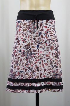 Size M 12 Ladies White Skirt Paisley Floral Casual Hippie Gypsy Boho Indie Style #2Where #PeasantBoho