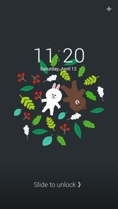 [LINE DECO] Cony and Brown on a garden ★ ★ In this screen ★ Lock screen : Cony and Brown on a garden Cony Brown, Phone Screen Wallpaper, Line Friends, Line Sticker, Fancy, Cartoon, Deco, Android, Painting