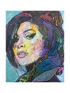 Trademark Fine Art Amy Winehouse Canvas Art by Dean Russo, Floating Brushed Aluminum, Size: Small, Multicolor Amy Winehouse, Pop Art Colors, Dean Russo, Pop Art Portraits, Jackson, Star Wars, Arte Pop, Ikon, Giclee Print