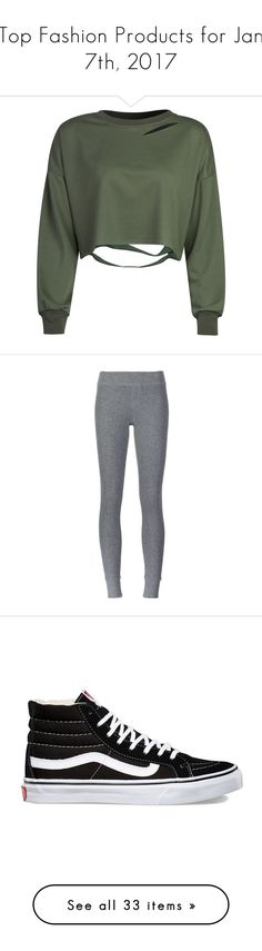 """""""Top Fashion Products for Jan 7th, 2017"""" by polyvore ❤ liked on Polyvore featuring tops, hoodies, sweatshirts, shirts, sweaters, crop top, pull, green sweatshirt, olive green top and ripped shirt"""
