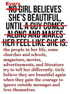 A girl believes she is beautiful until ...