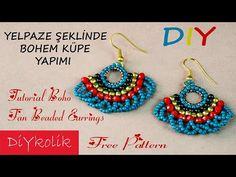 Seed Bead Earrings, Beaded Earrings, Seed Beads, Crochet Earrings, Earring Tutorial, Beaded Jewelry Patterns, Beading Tutorials, Bead Weaving, Designer Earrings