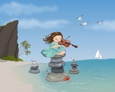 "Another imaginative, beautiful illustration by Bella Sinclair, illustrator of ""Ava's Secret Tea Party."""