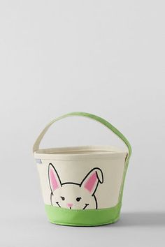 Bunny Easter Basket Tote from Lands' End