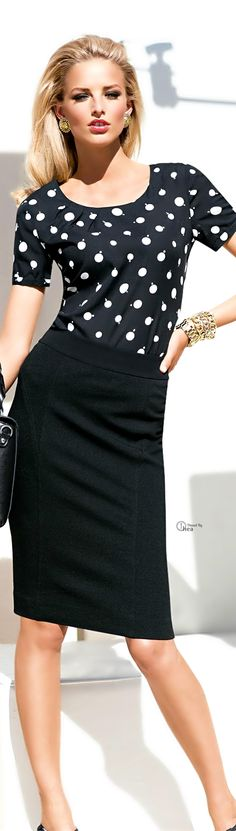 Work wear in black and white - simple and classy!