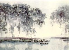Li Shan By the waterside (Ink on Paper)