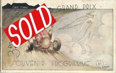 1939 3rd Grosvenor Grand Prix in Cape Town, South Africa Souvenir Programme.  A 38 page programme In good condition for year. front and rear page loose from slightly rusted stapels.  Price $65