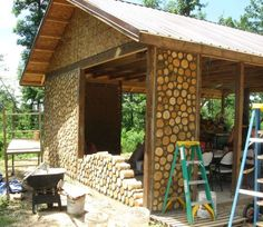 cordwood construction | Cordwood Cabin Building http://cordwoodconstruction.wordpress.com/2012 ...: