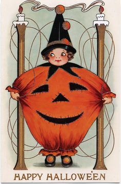 Vintage Halloween Cards at Bill Casselman's Canadian Word of the Day at www.billcasselman.com