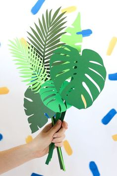 Botanical Paper Leaves DIY