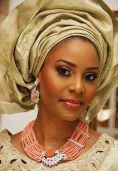 5fe9e77a061 Gold aso oke   traditional engagement attire. Nina Smith · The Nigerian  Wedding ...