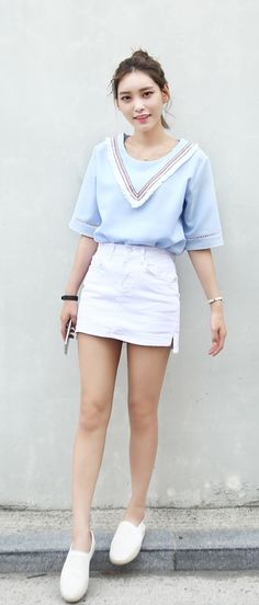 Korean Wholesale Fashion, Store Not a fan of those shoes with this cute outfit. I would choose some nice sandals