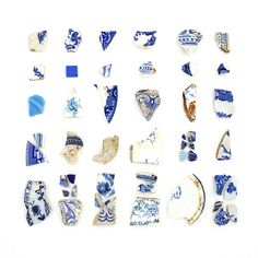 Blue china collection