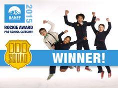 "From SSE: ""Odd Squad wins the Pre-School Rockie Award at Banff World Media Festival!"""
