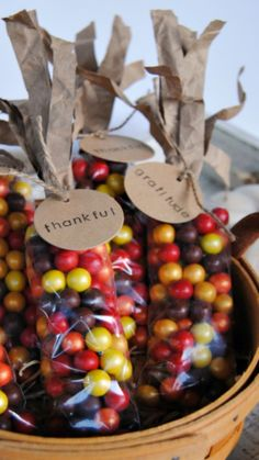 Indian Corn Thanksgiving Favors ~ step by step tutorial... Stamp the tags with words of Thanksgiving or guests' names for place cards!