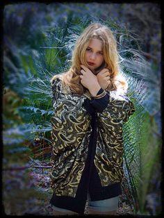 Huge cocoon coat / 1980s gold and black metallic by andeebird