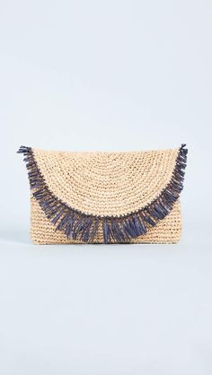 40% off! Hat Attack Sunshine Straw Clutch